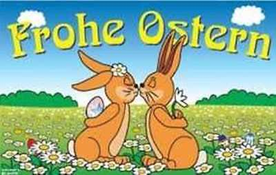 Frohe Ostern Ostereier anmalend Fahne Flagge 1,50x0,90m Fahnen Osterhase