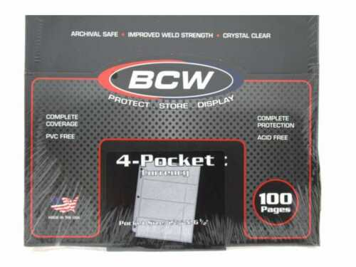 100 Pro Poly 4 Pocket Currency Page by BCW