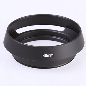 black metal 49mm curved vented lens hood for leica 49 mm