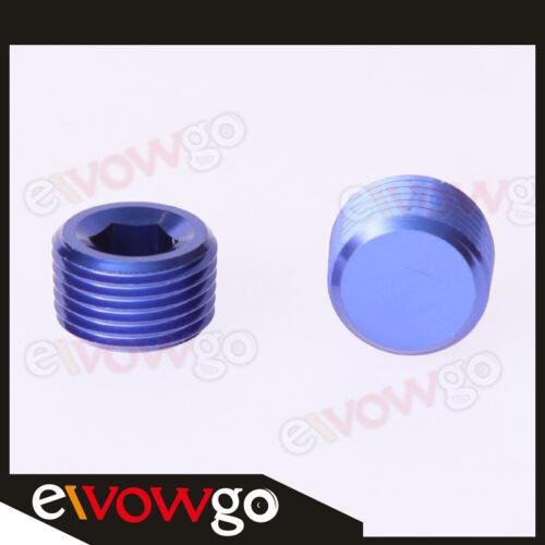 """Aluminum Alloys 1//2/"""" NPT Pipe Thread Allen Socket Plug NPT Plug Blue"""