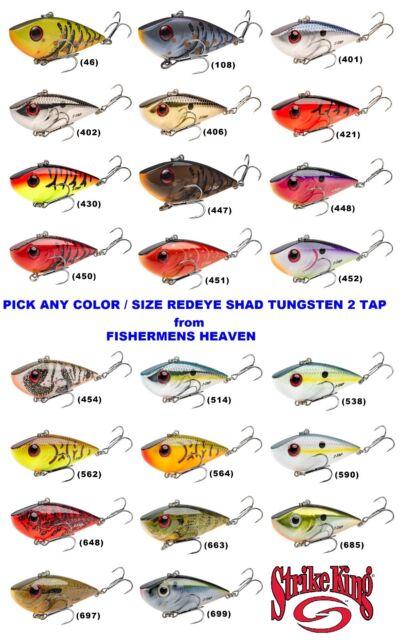 2 TAP Strike King Red Eye Shad 1//2oz Gold Black Back
