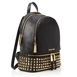 d23f6dfe4f Michael Kors Rhea Medium Studded Leather Backpack 30s5gezb5l Black ...