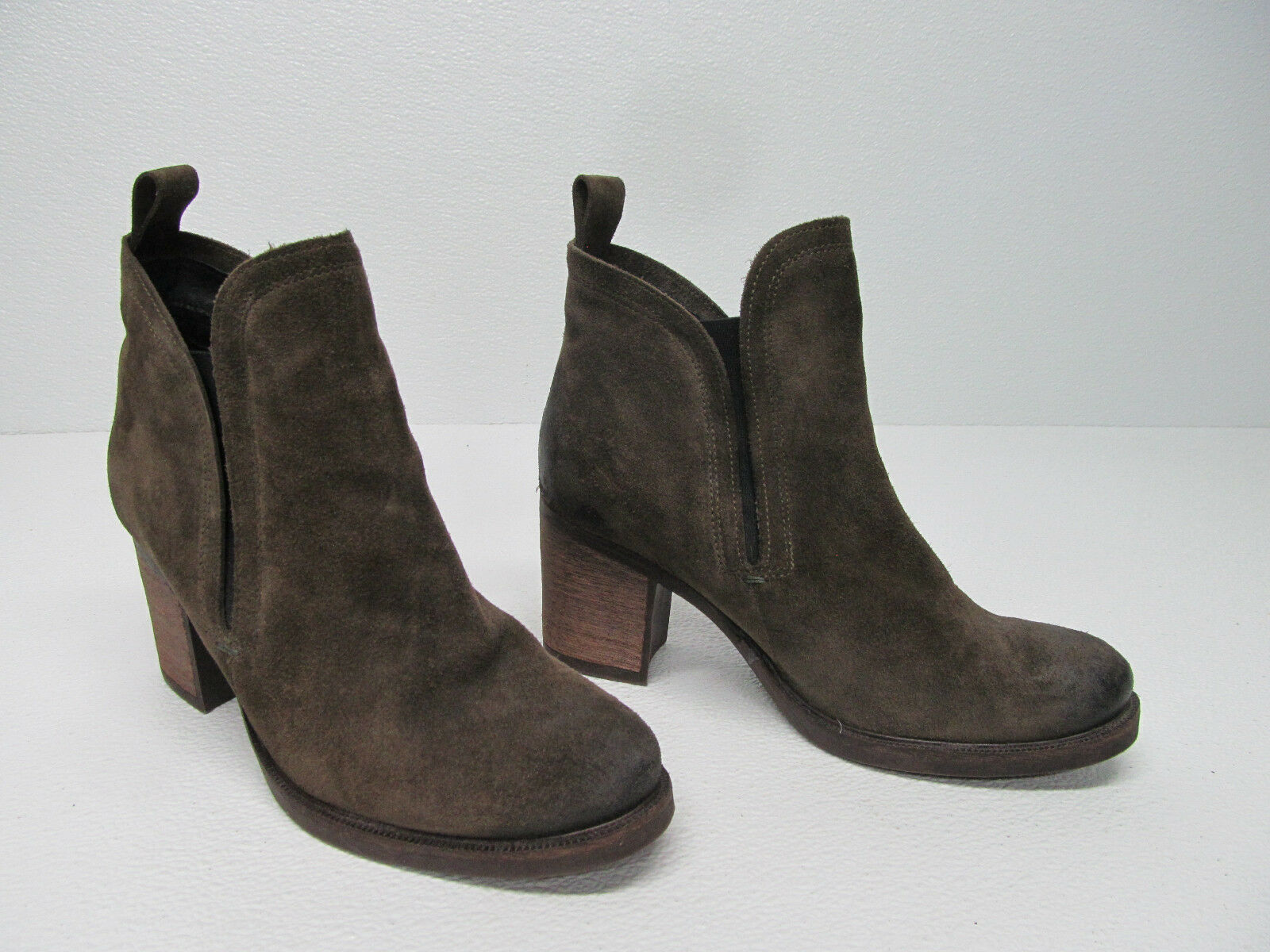 BOS & CO BELFIELD FASHION ANKLE Stiefel Stiefel BROWN SUEDE CHELSEA Stiefel ANKLE  Sz Damenschuhe 9/40 7a264d