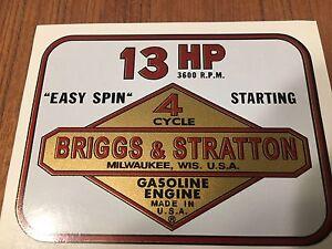 Briggs & Stratton  Toro 13-hp decal set Wards