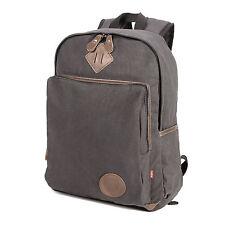 5cab95543172 item 2 Mens Vintage Canvas Backpack College Leather Camping Satchel 16