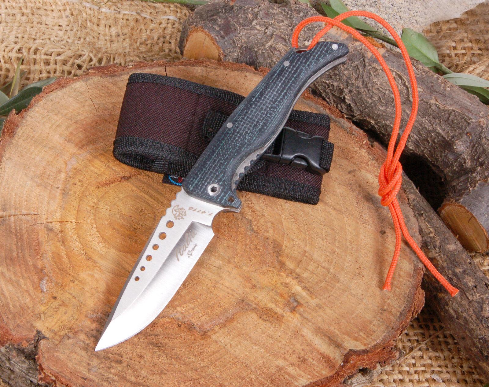 NAVAJA J&V CDA ITALIA CALADA ACERO MOVA 1.4116 MICARTA NEGRA YUTE KNIFE MESSER