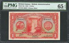 British Guiana 1942 P-12c PMG Gem UNC 65 EPQ 1 Dollar