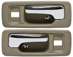 Passenger Side Sedan Plastic Interior Door Handle For 90-93 Honda Accord Rear