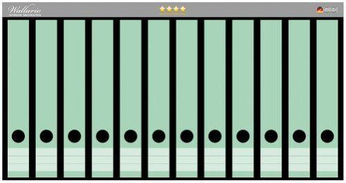 Pastellgrün einfarbig Wallario Ordnerrücken selbstklebend 12 schmale Ordner
