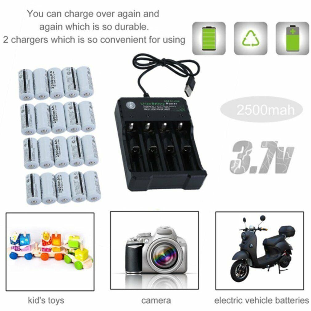 2500MAH 4 Slots Netgear Arlo Security Camera Batteries Charger + 20 Battery Pack
