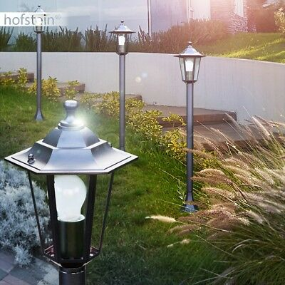schwarze Wege Leuchten klassische Aussen Laterne Steh Beleuchtung Garten Lampen