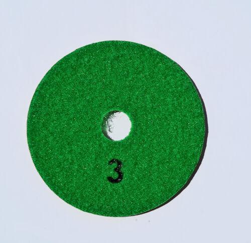 "Stadea 4/"" Diamond Polishing Pad Three step 3-step set wet polish Granite Quartz"