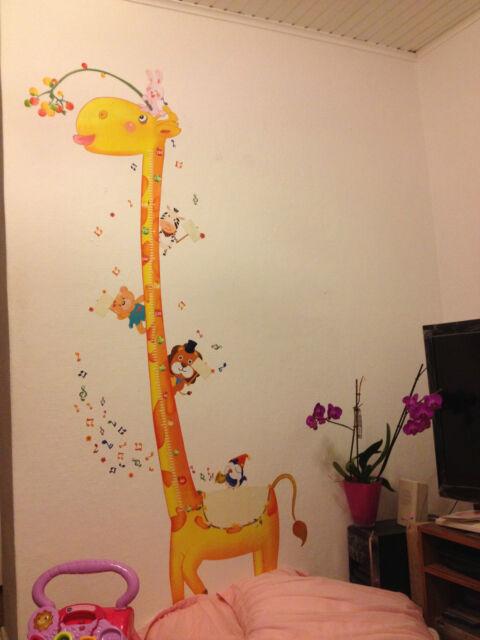 Wandtattoo Aufkleber Sticker baby- Kinderzimmer Giraffe-Körpermaß ca.60x200cm