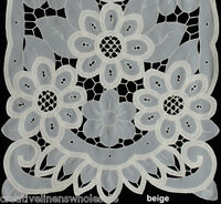 Battenburg Lace With Sheer Sunflower Floral Placemat Table Runner Beige 3082e