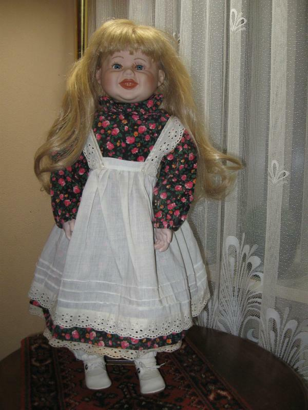 Vintage Porcelain Blonde Doll Frieda Europe 62 CM