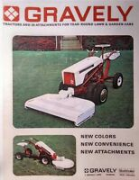 Gravely 1966 L Li Ls Two-wheel Lawn Garden Tractor Color Sales Manual 20pg 6.6hp