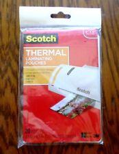 New Scotch Thermal Laminator Pouches 4 X 6 20pkg Tp5900 20 Upc 021200468803