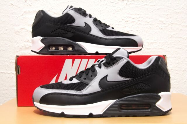Nike Air Max 90 Mens Size 7 Wolf Grey Black Essential 537384-053