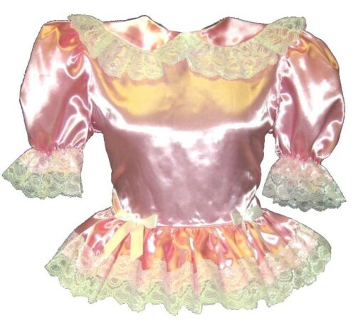 "/""Valerie/""  Custom Fit PINK SATIN BABYDOLL Adult LG Baby Sissy Dress LEANNE"