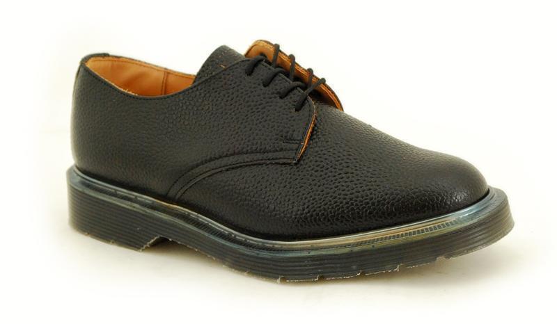 Solovair NPS shoes Made in England 4 Eye Black Grain shoes S032-L4995BKGRN