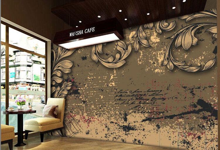 3D 3D 3D Letter Leaves Painting 8 Wallpaper Mural Paper Wall Print Wallpaper Murals UK a4ddd6