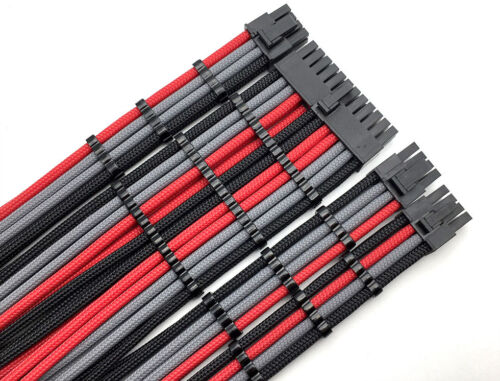 8pin 6pin PCIE 6 Straight Sleeved Extension Cable Combs 24pin 8pin 4pin ATX CPU