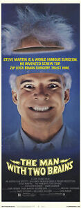 THE-MAN-WITH-TWO-BRAINS-1983-Steve-Martin-Kathleen-Turner-INSERT-POSTER