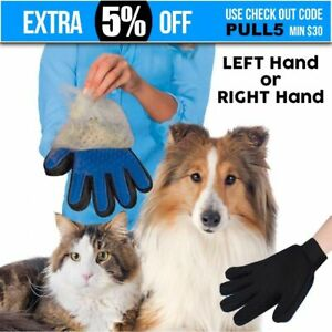 Pet-Grooming-Glove-Brush-Comb-Dog-Cat-Horse-Hair-Removal-Care-Bath-Massage