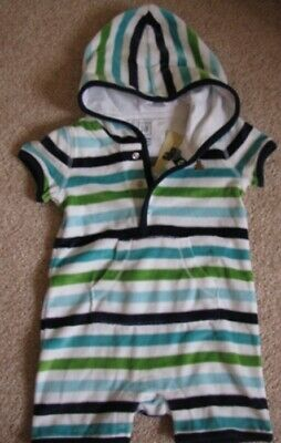 Baby Gap NWT Blue MARINA ANCHOR SUPPLY SHORT ROMPER BOYS OUTFIT 0 3 Months