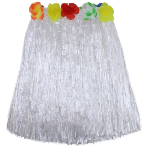 Hawaiian Grass Skirts Flowers Hula Fancy Dress Adults Costume Summer Beach Party