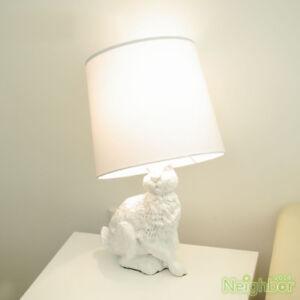 New modern rabbit table lamp led desk light bedroom bedside reading image is loading new modern rabbit table lamp led desk light aloadofball Choice Image