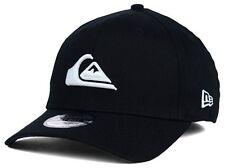 Quiksilver New Era 39Thirty Mountain & Wave Black Cap Hat Stretch Fit $30 M/L