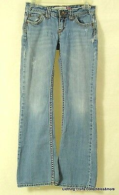 Womens Juniors Aeropostale Jeans Sz 0 Short Hailey Skinny Flare Destroyed
