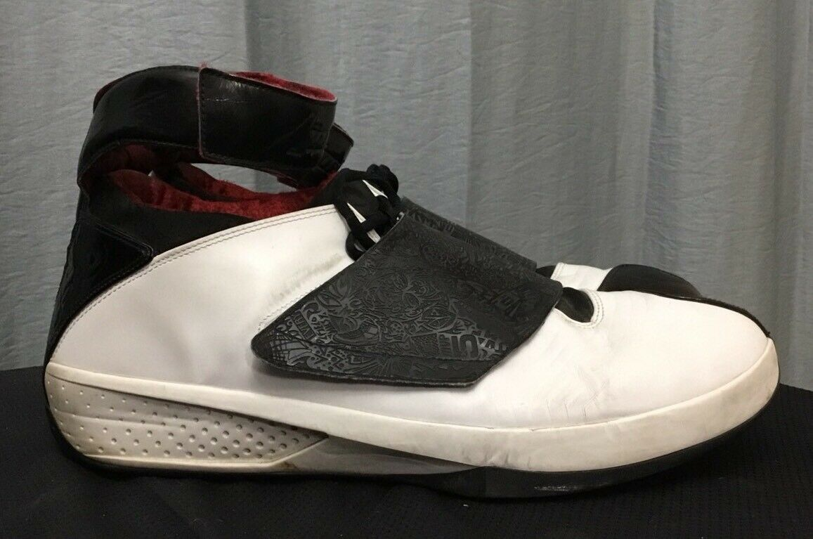 2005 Nike Air Jordan 20 310455 101 00 Size 18 White Red Preowned Stealth