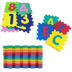Tappetino Tappeto Puzzle Lettere Gomma 10 Pezzi Numeri Bambini Giocare Eva 322