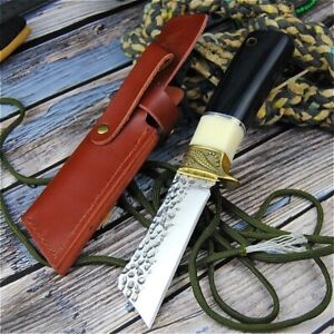 Forging Straight Knife Knives Outdoor Hunting Hiking Camping Tactical Vintage
