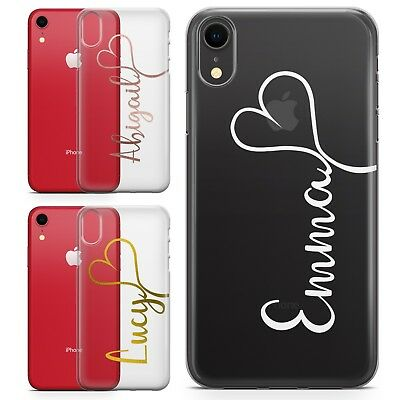 quality design c0759 ff2ee PERSONALISED NAME & HEART CUSTOM HARD PHONE CASE COVER FOR NEW IPHONE XS  MAX XR | eBay