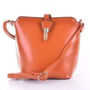 Tasche Handtasche Schultertasche Umhängetasche Clutch Braun Crossbag Schnalle