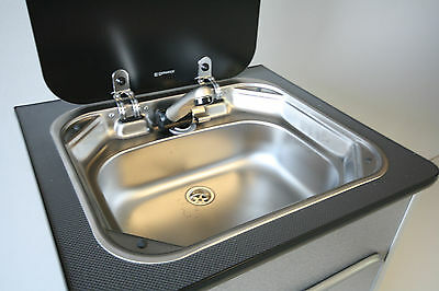 Campervan Smev Sink with Micro-switchedTap, Smev 8005 Motorhome/Caravan Sink