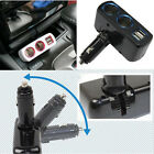 Double Usb Ports Charger & Dual Way Cigarette Lighter Socket Splitter Adapter
