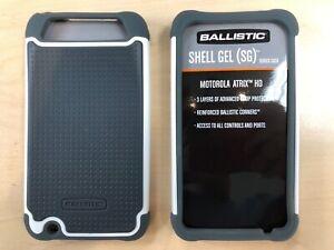 Ballistic-Shell-Gel-For-Motorola-Atrix-HD-SG0931-M181-AC-Gray-White-NEW
