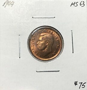 Canada-1944-One-Cent-1-Cent-MS63
