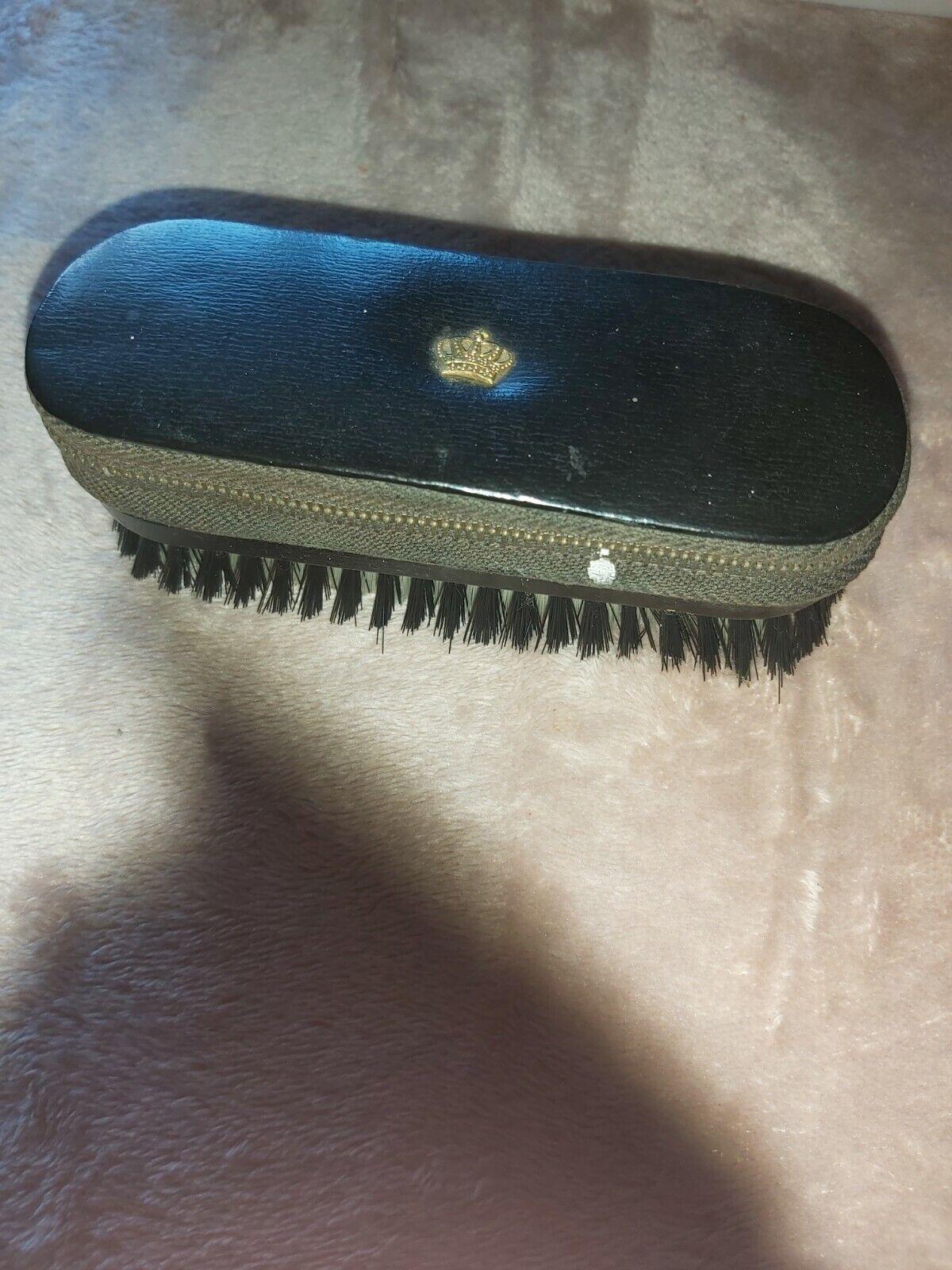 Vintage Gents Crown Travel Vanity Set Brush * free uk Mainland postage