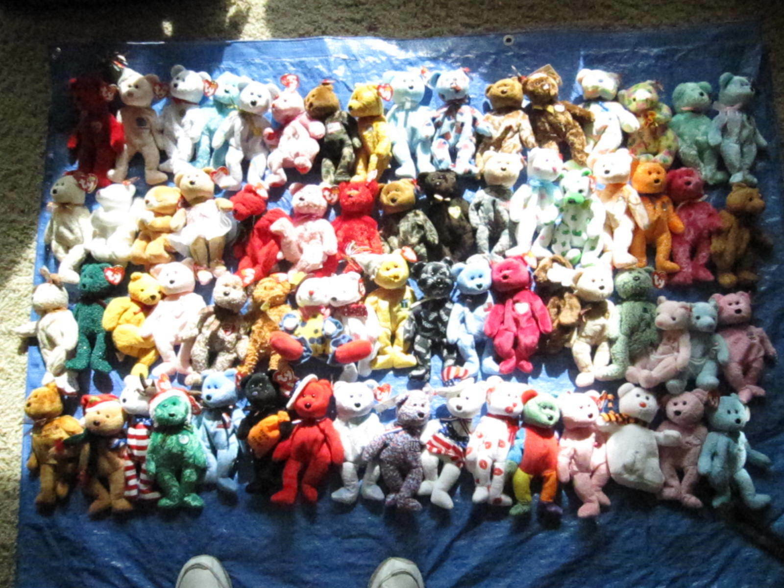 97 TY  BEAR  BEANIE BABIES, W    TAG; AND TUSH, VERY GOOD CONDITION 7070c3