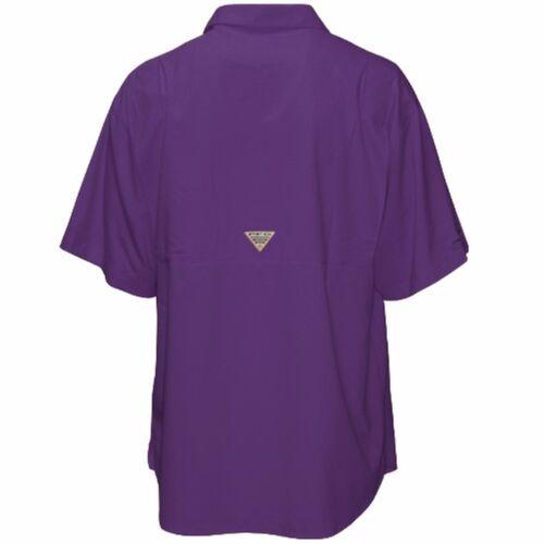 Size S LSU Columbia Men/'s Tamiami Short Sleeve Shirt PFG Omni-Shade