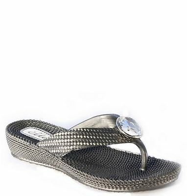 Para mujeres Damas Verano Sandalias Flip Flop Playa Zapatos Dedo Cubierta Zapatos UK3, 4,5,6,7,8