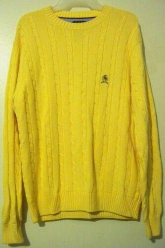 Tommy Hilfiger Mens Yellow Sweater Size Small EUC!