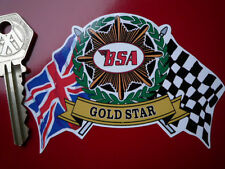 BSA Gold Star Helmet Motorcycle STICKER Classic Bike A7 650 Lightning Rocket