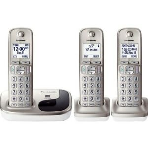 Panasonic-Cordless-Phone-with-3-Handsets-KX-TGD213N-DECT-6-Expandable-Call-Block
