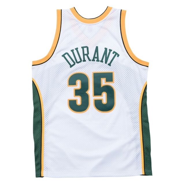 82a71d01a Kevin Durant Seattle Supersonics NBA Throwback Jersey White S for ...
